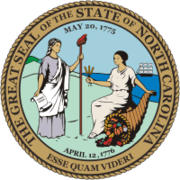 The seal of North Carolina bears the date of the Mecklenburg Declaration.