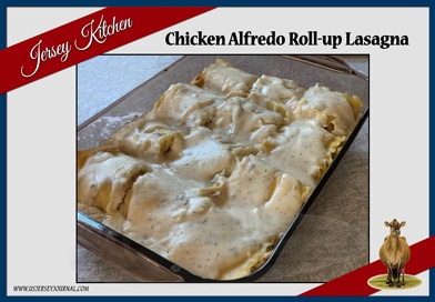 Chicken Alfredo Roll-Up Lasagna
