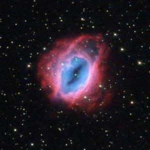 Erikoisen värikäs sumu ESO 456-67 Jousimiehen tähdistössä. Kuva: ESA Hubble.