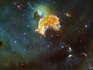Supernova-räjähdyksen jäänteet. Tämä N 63A on syntynyt maassivisen tähden rajun räjähdyksen seurauksena. Kuva: ESA Hubble.