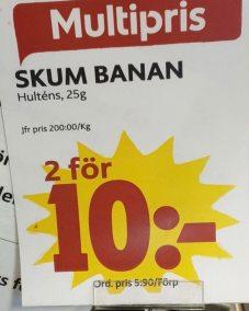 En skum banan - men två stycken...