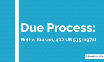 Understanding Due Process: Bell v. Burson