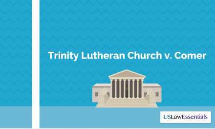 Supreme Court: Trinity Lutheran Church v. Comer