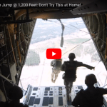 US Marines Parachute Jump @ 1,200 Feet