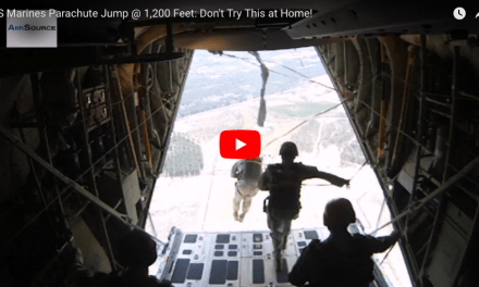 US Marines Parachute Jump @ 1,200 Feet