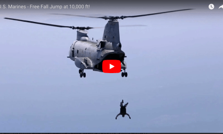 U.S. Marines Airborne – Freefall at 10,000 ft!