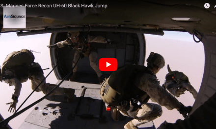 U.S. Marines Force Recon UH-60 Black Hawk Jump