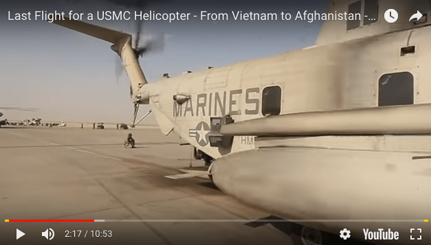 Last Flight for a USMC Helicopter – From Vietnam to Afghanistan – End of an Era for Marine Aviation