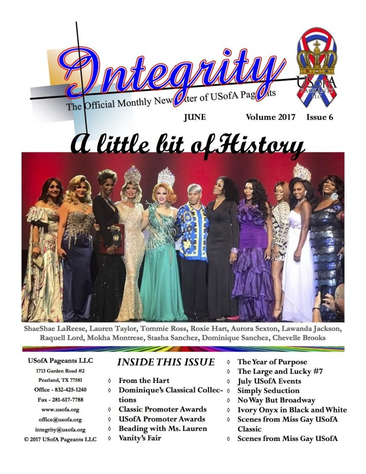 USofA Pageants Integrity Newsletter June 2017