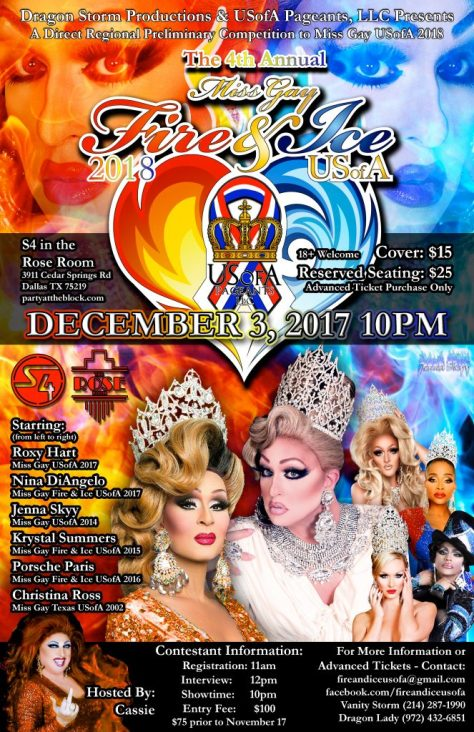Good Luck To All The Contestants At Miss Gay Fire & Ice USofA 2018!