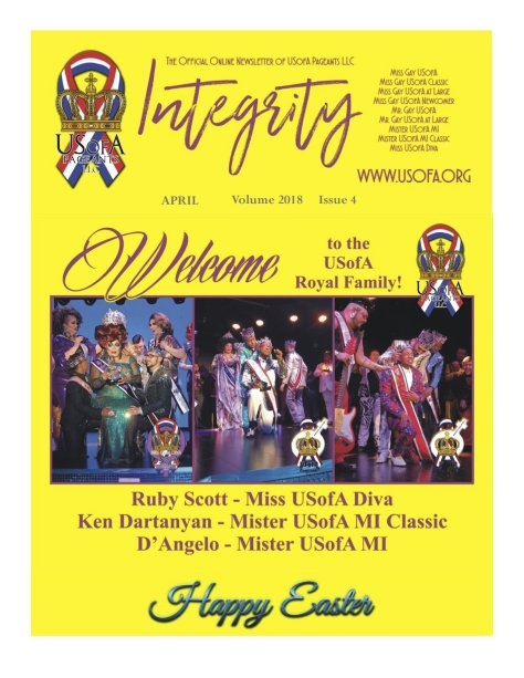 USofA Pageants Integrity Newsletter April 2018