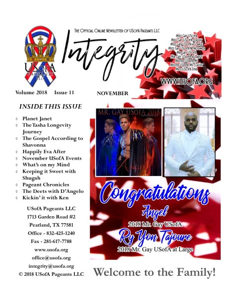 USofA Pageants Integrity Newsletter November 2018