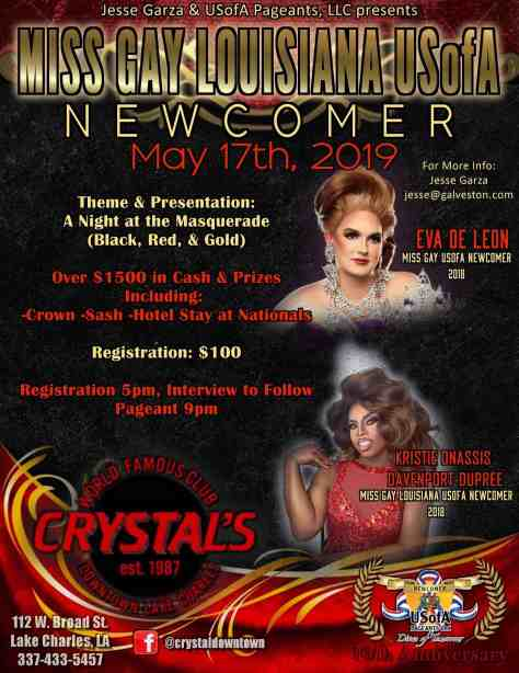 Miss Gay Louisiana USofA Newcomer 2019