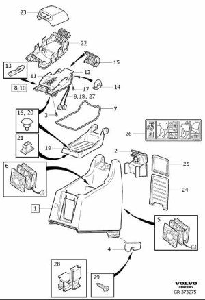 30635643  Arm rest Interior, Console, Code  Genuine