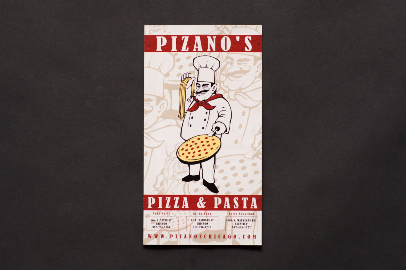 Pizano's Carry Out Menu