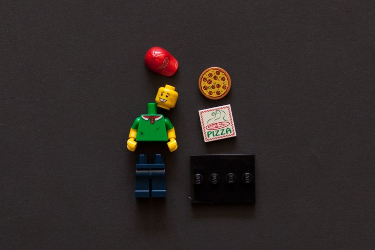 LEGO Pizza Delivery Man Minifigure