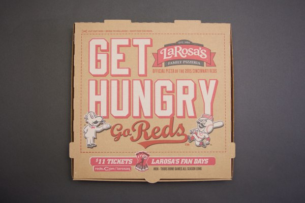 LaRosa's Pizza Cincinnati Reds Pizza Box