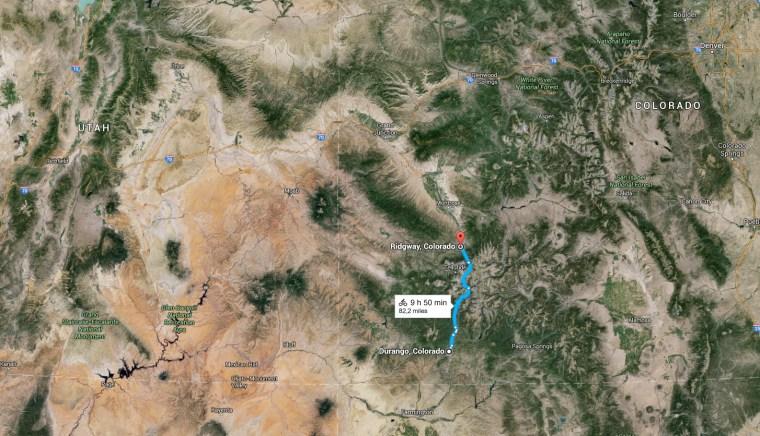 Etape montagne au Colorado_Durango - Ridgway
