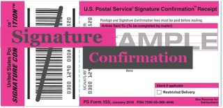 What is USPS Signature Confirmation?