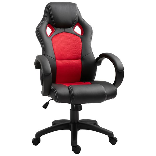 Homcom Racecar Styled Office Chair High Back Leather Executive Computer Home Office Desk Swivel Chair Office Chairs Aosom Canada
