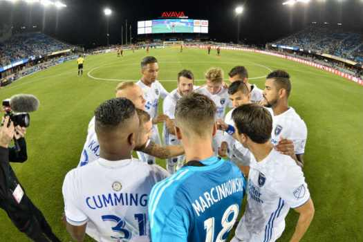 san jose earthquakes huddle