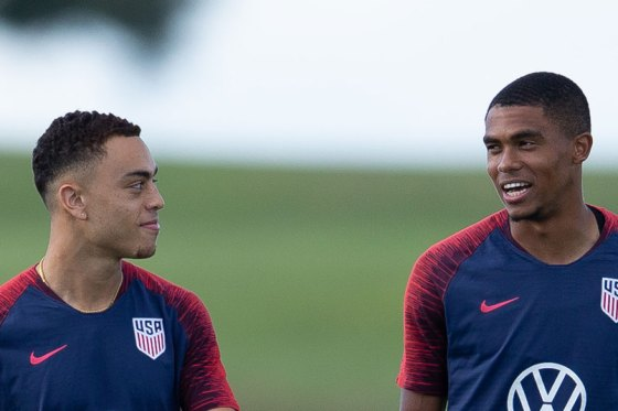 Cannon and Dest in the USMNT defense | US Soccer Players