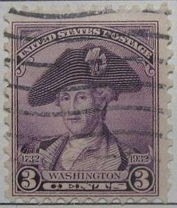 1932 Washington Bicentennial 3c