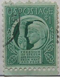 1943 Four Freedoms 1c
