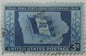 1946 Iowa Statehood 3c