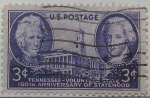 1946 Tennessee Sesquicentennial 3c