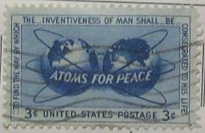 1955 Atoms for Peace 3c