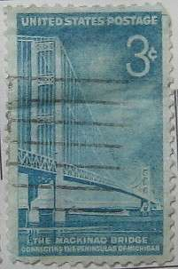 1958 Mackinac Bridge 3c