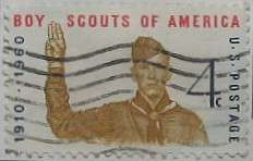 1960 Boy Scouts Anniversary 4c