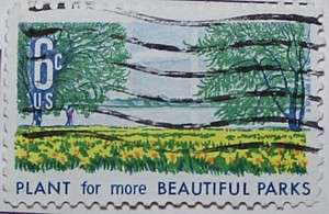 1969 Beautification of Parks 6c