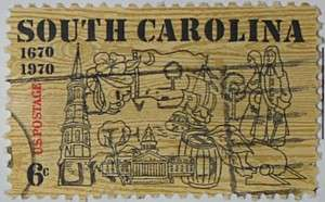 1970 South Carolina Anniversary 6c