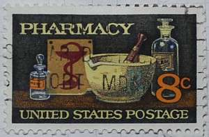 1972 Pharmacy Anniversary 8c