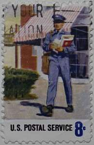 1973 Postal Workers - Delivery 8c