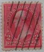 1898 Washington 2c Carmine