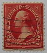 1899 Washington 2c red