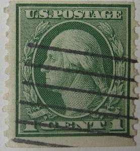 1916 Washington 1c Vertical Coil
