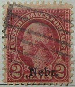 1929 Washington 2c Nebr Overprint