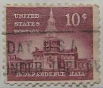 1956 Independence Hall 10c