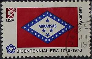 1976 Arkansas Flag 13c