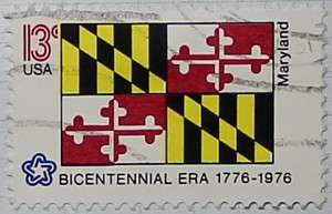 1976 Maryland Flag 13c