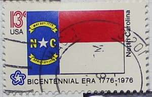 1976 North Carolina Flag 13c