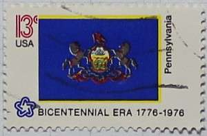 1976 Pennsylvania Flag 13c