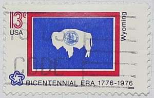 1976 Wyoming Flag 13c