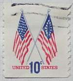 1973 Flags 10c Vertical Coil