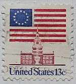 1975 Flag over Independence Hall 13c