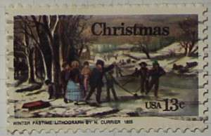 1976 Christmas Currier 13c